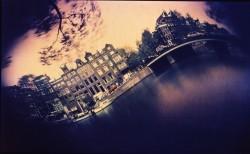 Amsterdam-singel-canal/1985/60x35cm