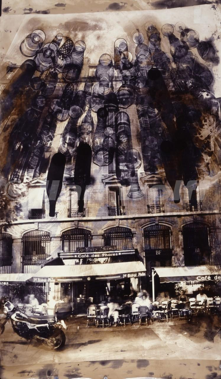 Cafe-parisian-Bastille/2000/215x125cm