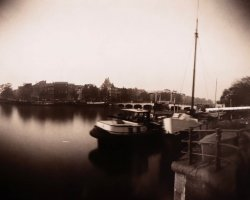 0747 - Boats on Amstel  river